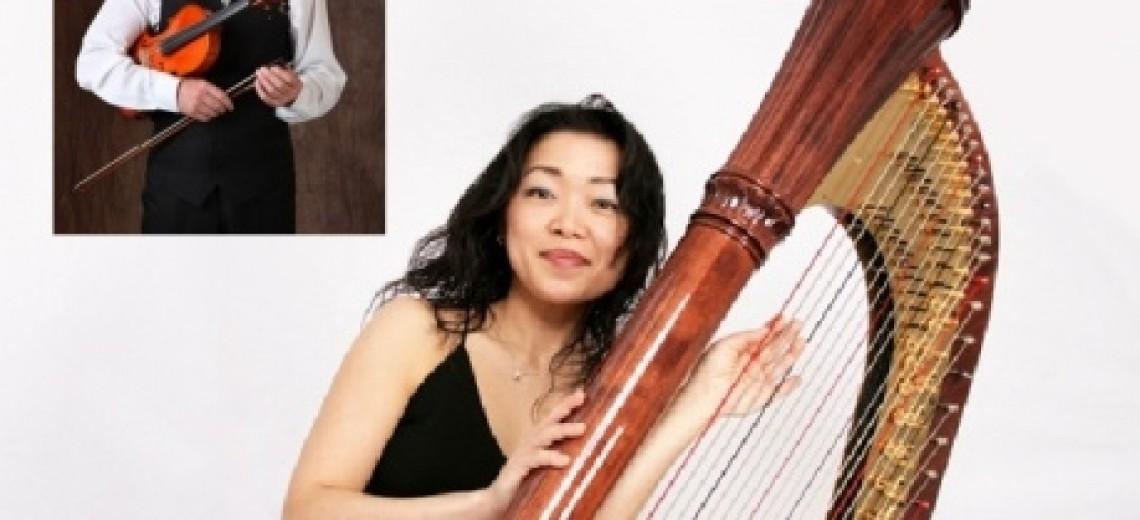 KAZUMI HASHIMOTO (Japonsko) - harfa, FRANTIŠEK LAMAČ  (ČR) - housle